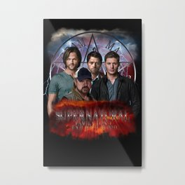 Supernatural Family dont end with blood 4 Metal Print