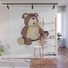 Greedy bear Wall Mural