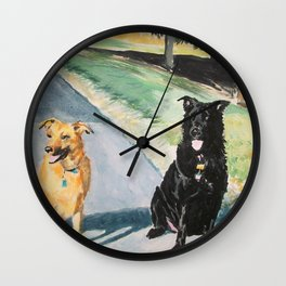 Excitedly Waiting Wall Clock