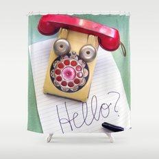 Hello? Shower Curtain