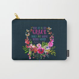 Saved by Grace (Navy version) Carry-All Pouch