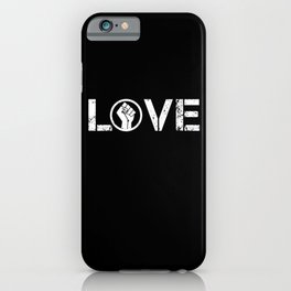 Black Lives Matter BLM Love Fist Shirt iPhone Case