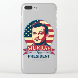 Murray For President Clear iPhone Case