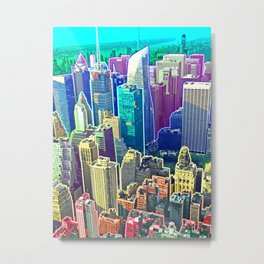 Rainbow City Metal Print