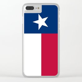 State flag of Texas, official banner orientation Clear iPhone Case