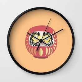 Daruma Doll 2 Wall Clock