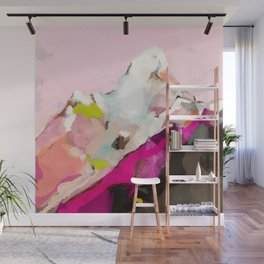 landscape mountain painting abstract Wall Mural