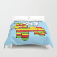 rasta Duvet Covers featuring Rasta pinata by Dmitriylo