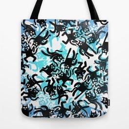 Cats do swim! Tote Bag