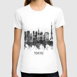 Tokyo Japan Skyline BW T-shirt
