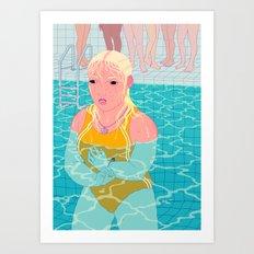 Swim Class Art Print