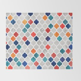 Sea & Spice Moroccan Pattern Throw Blanket