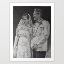 G & B Wedding portrait Art Print