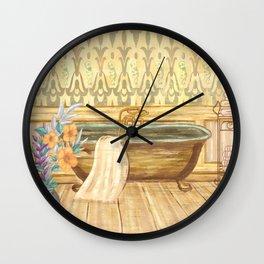 Vintage Claw-foot Tub Bathroom Decor Wall Clock