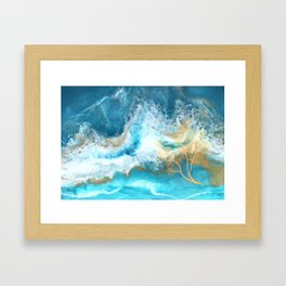 Aqua Waters Framed Art Print