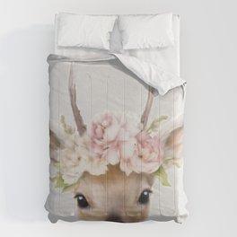 deer print, deer art painting Comforters