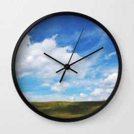 Open dreamlike field Wall Clock