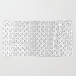 HD Soap Black Tiled on White Beach Towel
