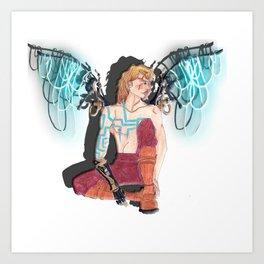 Mechno Angel  Art Print