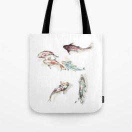 Koi Fish Watercolour Tote Bag