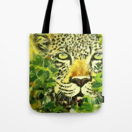 Wildlife Painting Series 3 - Leopard in preying pose Tote Bag