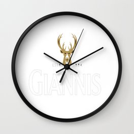 Giannis Stout Wall Clock