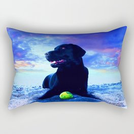 Ziggy Black Labrador Rectangular Pillow