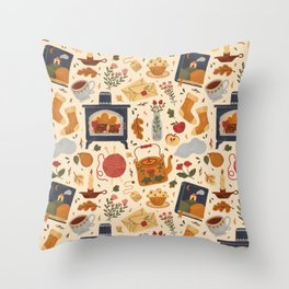 Stay Cozy Throw Pillow