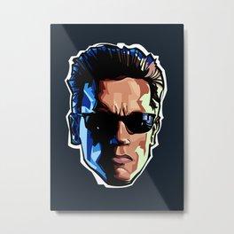 Terminator Head 1 Metal Print