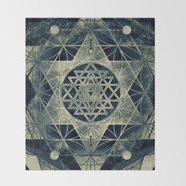 Sacred Geometry for your daily life- SRI YANTRA Throw Blanket