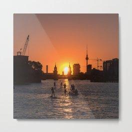 Berlin city skyline - sunset sky panorama Metal Print