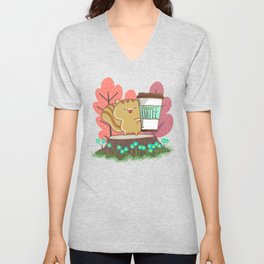 The Quest For A Perfect Cup Of Coffee Unisex V-Neck