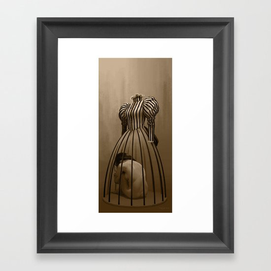 The cage / La cage Framed Art Print
