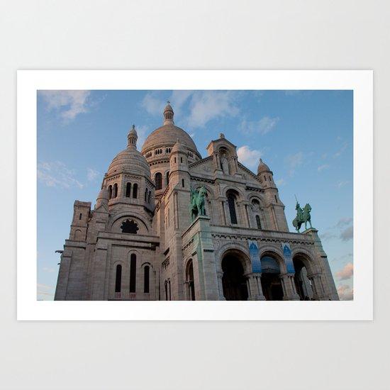 Sacre Coeur in September Art Print