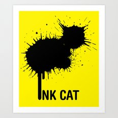 INK CAT Art Print