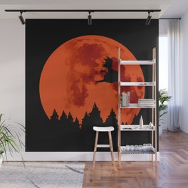 The Moon on Dragon Ball - Black Orange Wall Mural