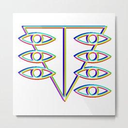 SEELE glitch art Metal Print