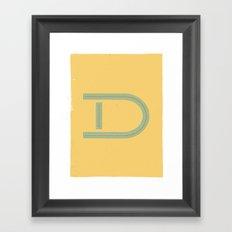 D 001 Framed Art Print