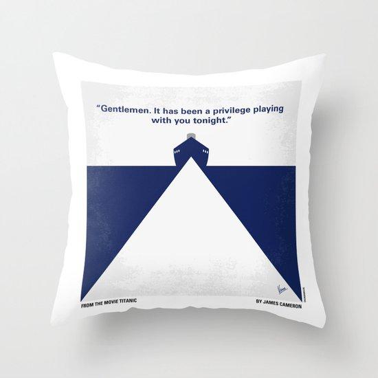 No100 My Titanic minimal movie poster Throw Pillow