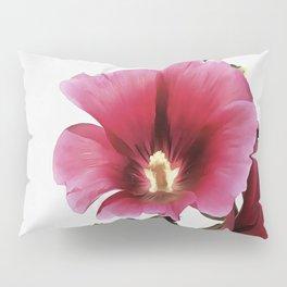 Pink Hollyhock Pillow Sham