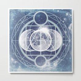 Alchemy: Lunar Phases Metal Print