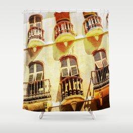 Gibraltar balconies Shower Curtain
