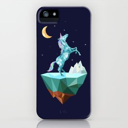 unicorn in the universe iPhone Case