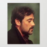 winchester Canvas Prints featuring john winchester by LindaMarieAnson