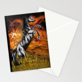 It's always sunny in philadelphia, charlie kelly horse shirt, black stallion Stationery Cards
