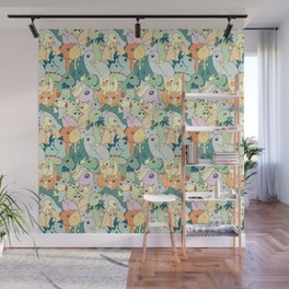 Cute Dino Pattern Wall Mural