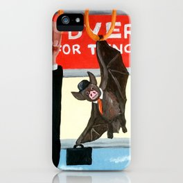 Manbat: a bat with all of the powers of a man iPhone Case