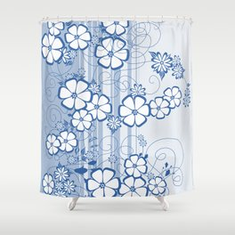 Abstract flowers with background Shower Curtain