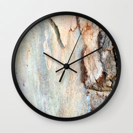 Eucalyptus tree bark and wood Wall Clock