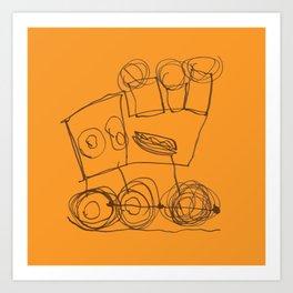 Ben's Monster Trucks no.3 Art Print